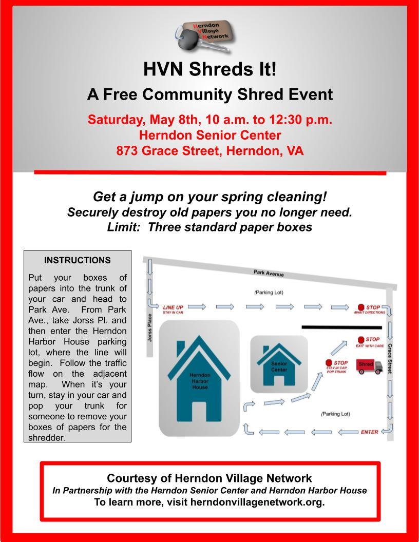 Community Shred Event Flyer, Community Version