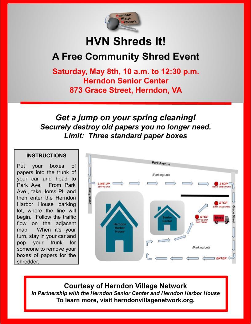 Community Shred Event Flyer, Community Version